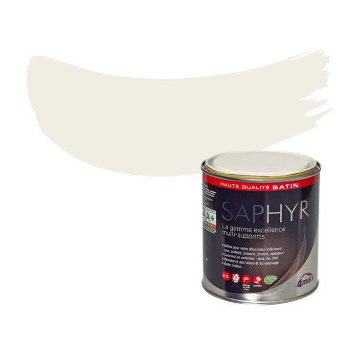 Peinture Finition SAPHYR Alkyde blanc cassé Satiné 0,5 L