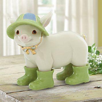 Meet Me Under The Mistletoe Pig Figurine | Pigs