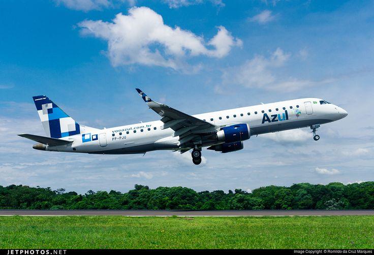 Embraer ERJ-190LR, AZUL Linhas Aéreas Brasileiras, PP-PJU, cn 19000541, 106 passengers, TRIP Linhas Aéreas delivered 17.5.2012, AZUL delivered 6.3.2013. Foz, Brazil, 20.2.2016.