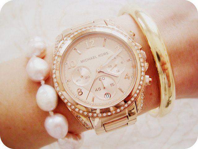 MK Pink gold watch