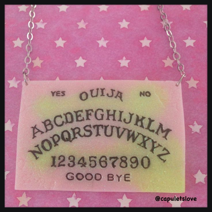Contrast marbled ouija board necklace is available at www.capuletslove.storenvy.com