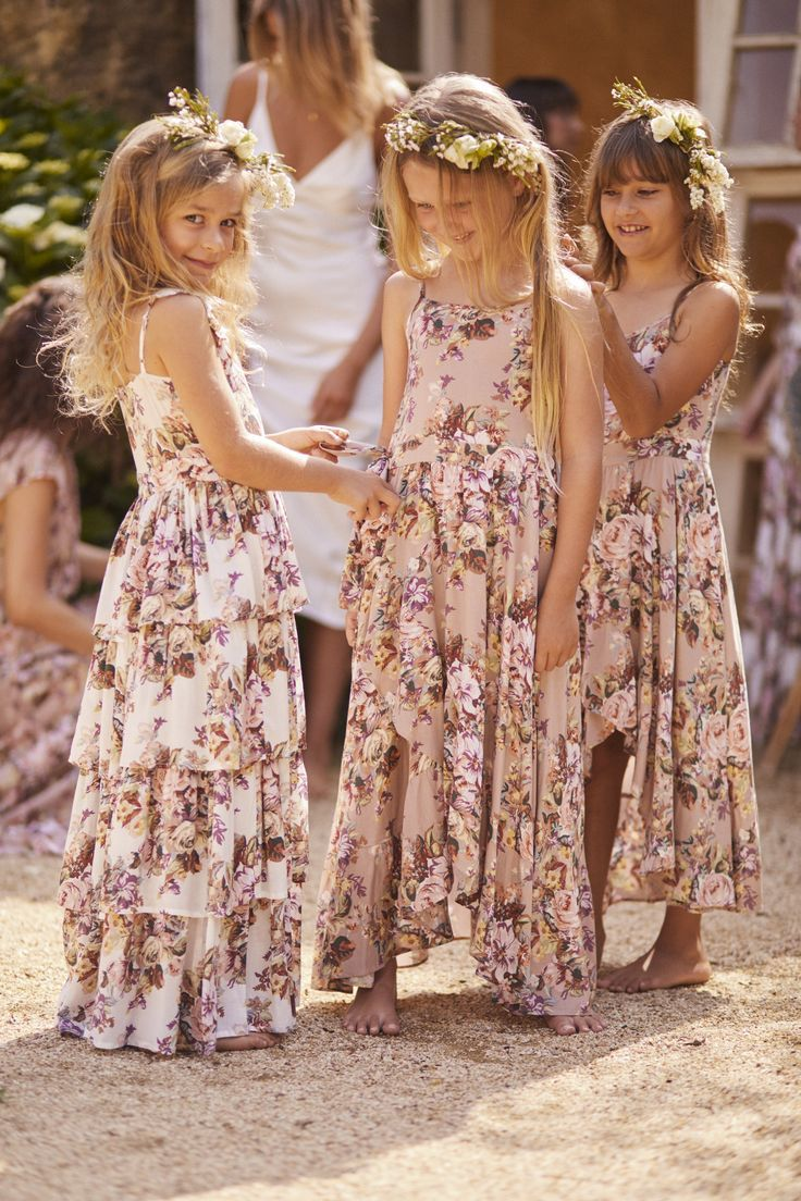 Vintage-inspired floral flower girl dresses by Auguste the Label. 2019 – #blue s…