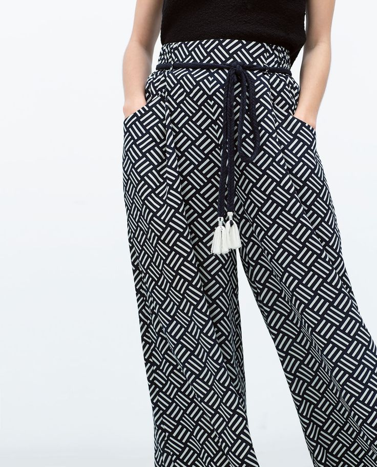 ZARA - WOMAN - PRINTED TROUSERS