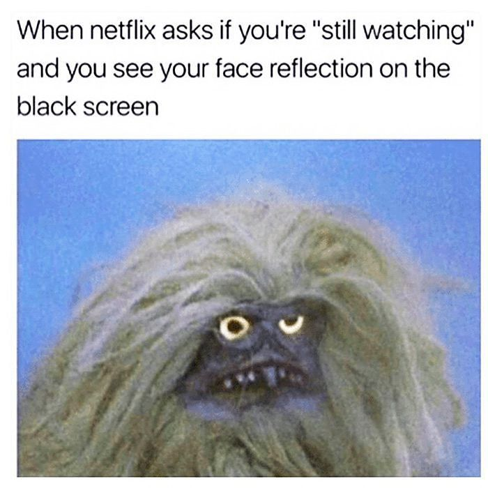 Still Watching? Time http://onlineclock.net/video/ #NetFlix #Video #Streaming #AmazonVideo #Hulu #Videos #YouTube #OnlineVideo #StillWatching #NetFlixAndChill #Camera #Reflection #Chillin #Netflixs #humor #Comedy #Funny #WTF #Relatable