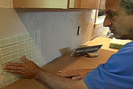 How to replace a tile backsplash old houses videos and for Replacing backsplash