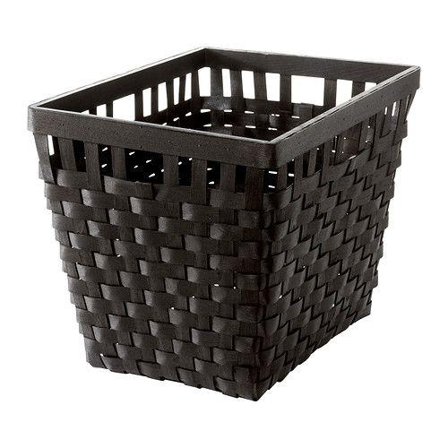 KNARRA Basket, black-brown black-brown 38x29x30 cm