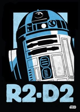 r2d2 droid poster star wars lucas