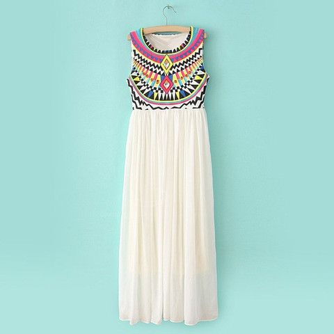 Aztec Goddess Contrast maxi Dress – Boho Buys