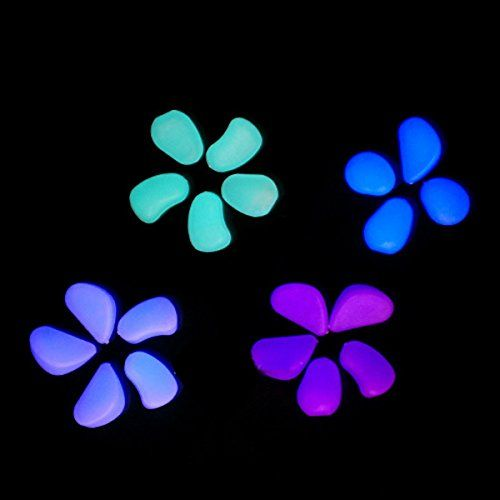 {Factory Direct Sale} 10 Pcs Luminous Light Emitting Pebble Stone  Artificial Accessory Aquarium Decoration