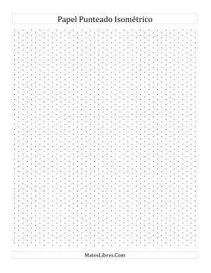Papel Isométrico Punteado de 0.5 cm (Vertical) (Todas)