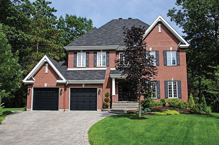 Best Image Result For Black Garage Door Red Brick House Red 400 x 300