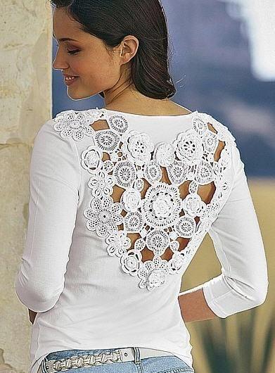 Resultado de imagem para customização em roupas com crochê