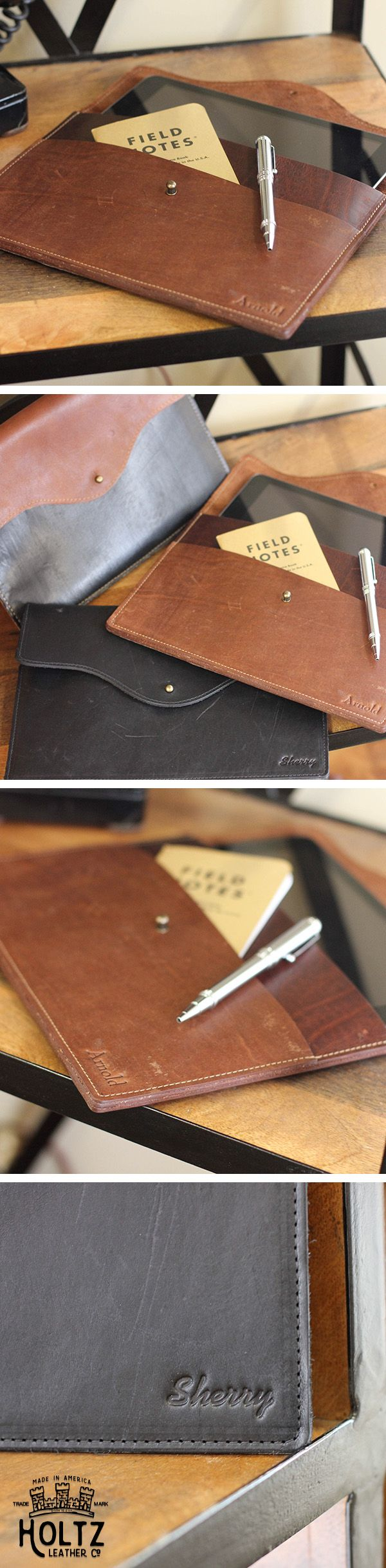 The No. 20 iPad Case is handmade right here in our shop with the finest of Full Grain American leathers. We hand pick our leather hides from a local tannery ~ for a rustic look and feel. This is a gift that will be used and loved for a lifetime! Perfect for the executive, professional, father, or dear friend in your life.