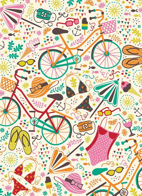 Seaside Cycle by Anna Deegan, via Behance