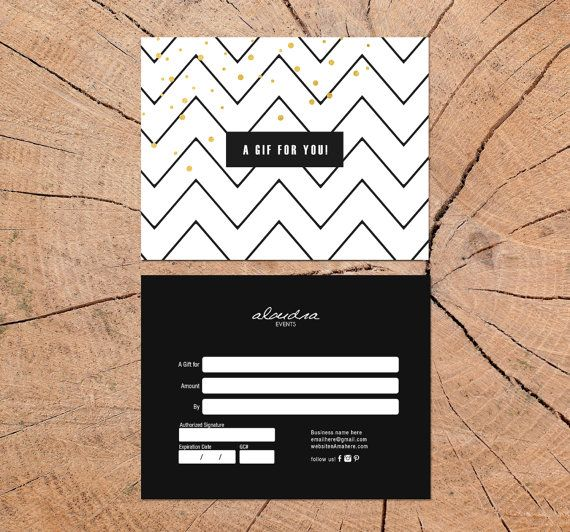 Alondra Double Sided Gift Certificate Template By Deideigraphic