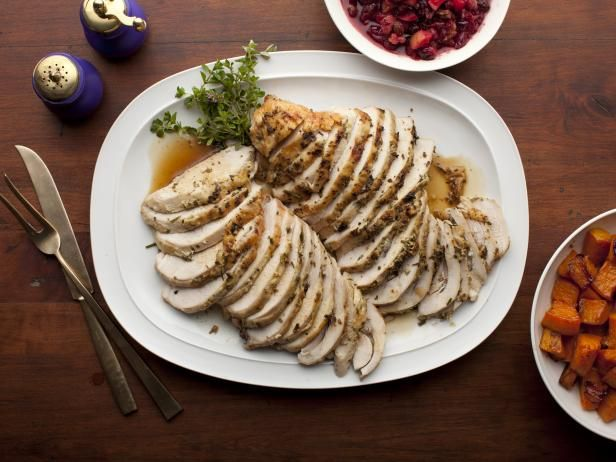 Herb-Roasted Turkey Breast : Turkey is a lean protein and the calories won't get out of hand if you choose a flavorful baked recipe, like Ina's classic herb-roasted bird.