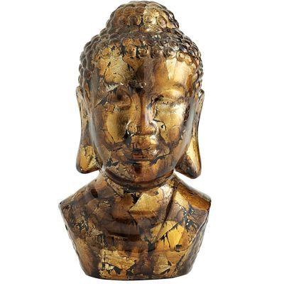 Gold Foil Ceramic Buddha Head