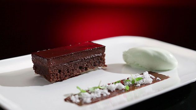 Dan and Steph made this at the Grand Final at My Kitchen Rules-Chocolate Peppermint Delice