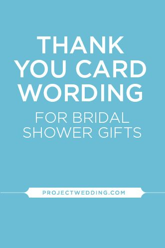 Bridal Shower Thank You Wording In 2018 June 28 2014 Pinterest