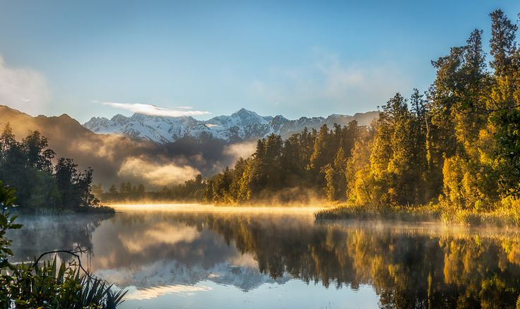 Lake Matheson on the South Island of New Zealand offers an exceptional view of Mount Cook reflecting in the water. And if you get up early, ...