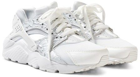 Nike White Girls ́ Huarache Run SE Junior Shoe