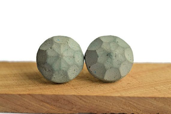 New listing! Colored concrete earrings in a variety of colors and shapes. Check out my shop for more!