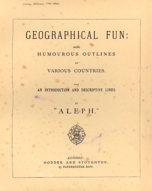 vintage everyday: Geographical Fun: Being Humourous Outlines of Various…