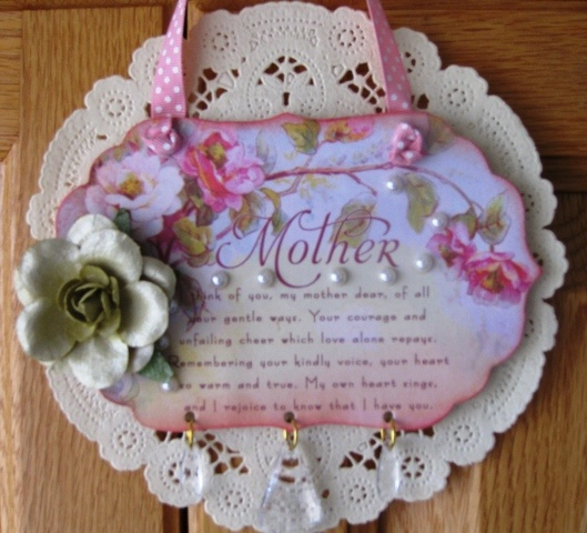 Crafty Secrets Mothers Day Plaque