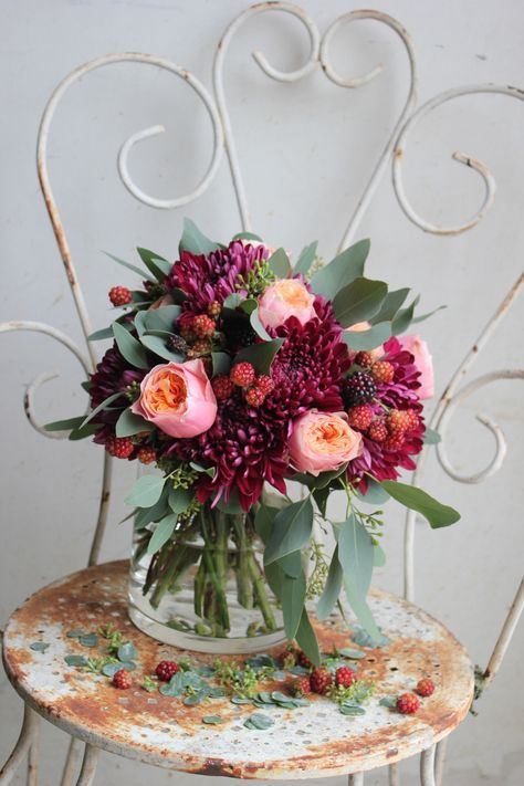 Bouquet de Poppy Figue Flower #fleurs #bouquet #flowers #mariage