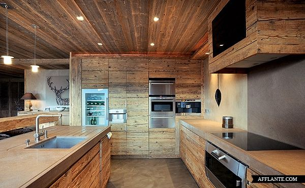 17 best images about am nagement deco montagne on pinterest vail ski bespoke kitchens and chalets - Deco gezellige lounge ...