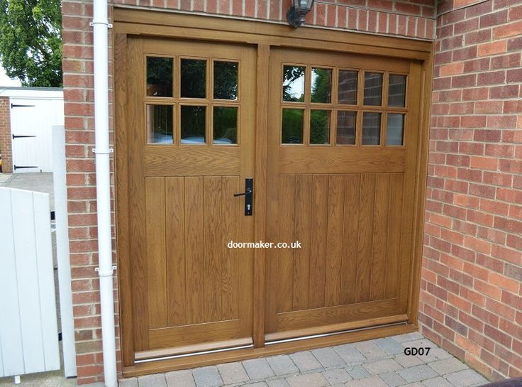 oak garage doors bespoke brickwork garage office
