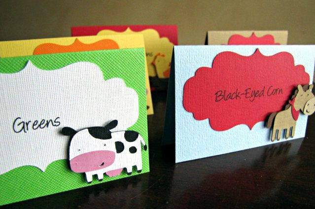 Barnyard Party Food Tent Cards, Barnyard Party Place Cards, Barnyard Party Food Labels, Farm Birthday Party, Farm Party Food, Barn,Set of 10 by ScrapYourStory on Etsy https://www.etsy.com/listing/185063154/barnyard-party-food-tent-cards-barnyard
