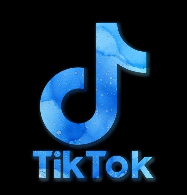 Tiktok logo w/ blue stuff :) in 2020 | Blue wallpaper ...