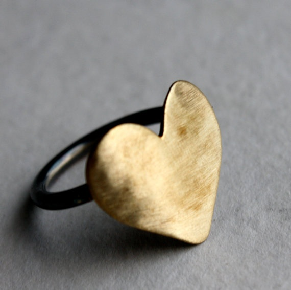Brass Heart Ring UncovetRachel Pfeffer, Style, Brass Heart, Rings Uncovet, Heart Rings, Jewelry, Jewels, Accessories, Wear