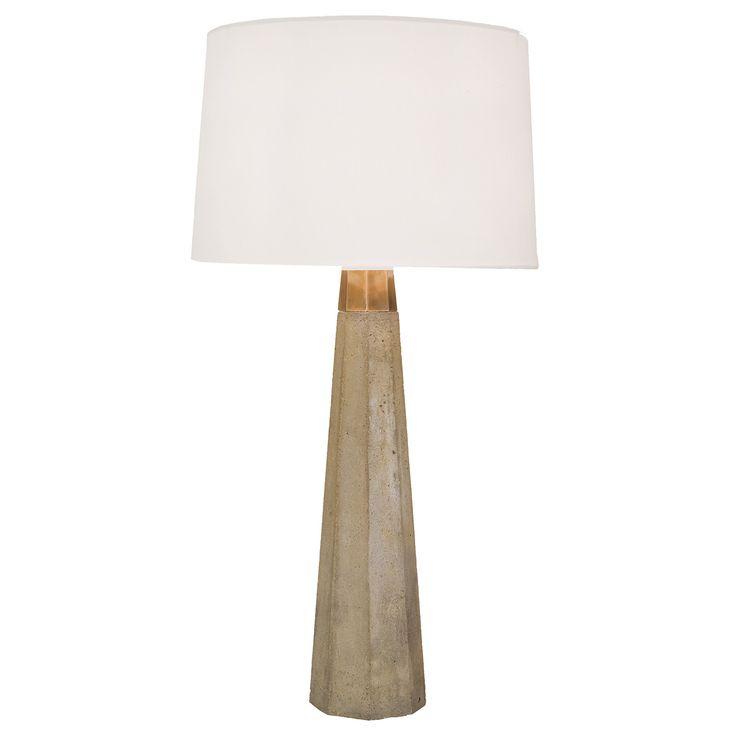 Regina Andrew Concrete And Brass Table Lamp Zinc Door