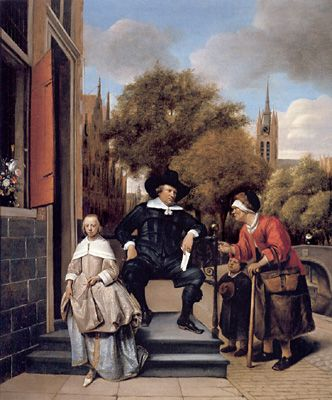 Jan Steen / A Burgher of Delft and his Daughter 1665   The Rijksmuseum, Amsterdam