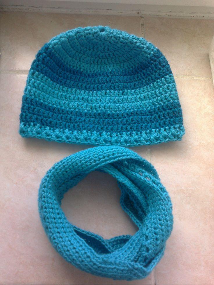 Set čepice a nákrčníku pro synka na zimu :-)