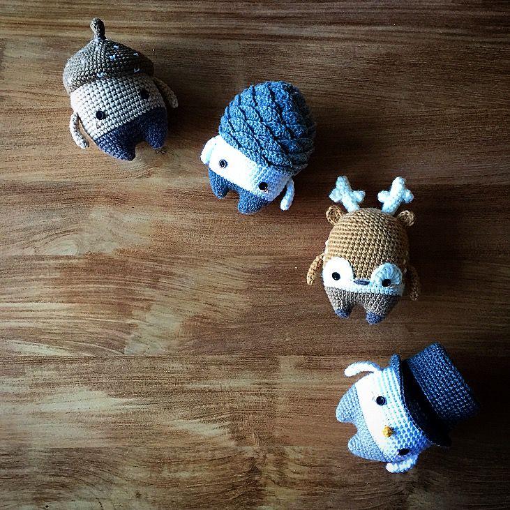 ERWIN, WOODY, HEINZ & SIMON made by Valentin C. / crochet pattern by lalylala