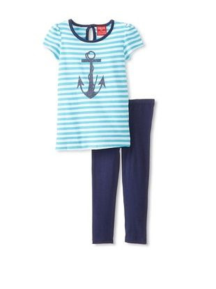 63% OFF Izod Kid's Toddler 2-Piece Legging Set (Blue)
