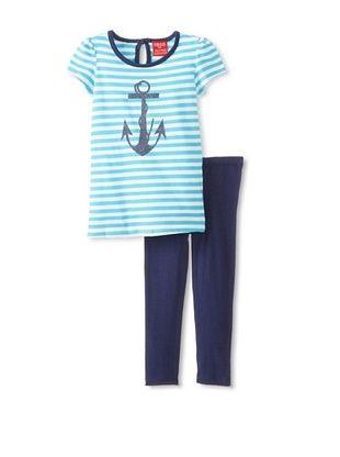 63% OFF Izod Kid's Toddler 2-Piece Legging Set (Blue)