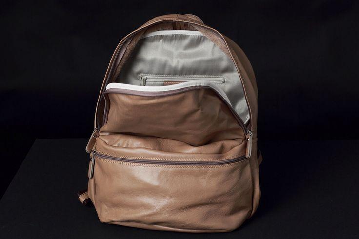 8100 Р Классический кожаный рюкзак унисекс - JUPITER - leather backpack