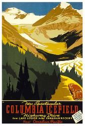Canadian Pacific vintage print - Columbia Icefield