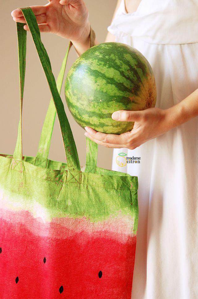 Tuto de sac pastèque   Madame Citron - Blog de créations et DIY