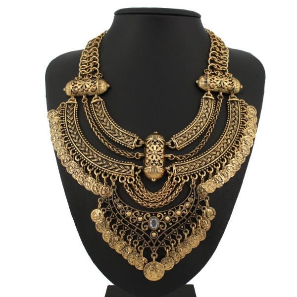 $15 Vintage Gold Bohemian Multi-Layer Coin Necklace