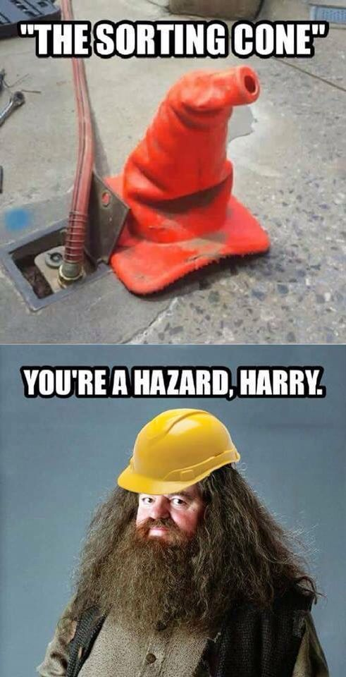 You're a hazard, Harry. I don't know why I think this is so funny.