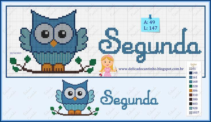 http://delicadocantinho.blogspot.com.br/2015/11/graficos-ponto-cruz-semaninha-corujinha.html