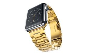 Groupon - Stainless Steel Metal Replacement Classic Band for Apple Watch,Gold. Groupon deal price: $17.93