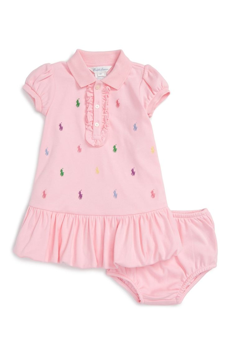 Ralph Lauren Polo Dress (Baby Girls) available at #Nordstrom
