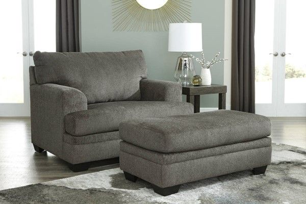 Ashley Furniture Dorsten Slate Chair And Ottoman Set Chair And A Half Chair And Ottoman Set Contemporary Chairs