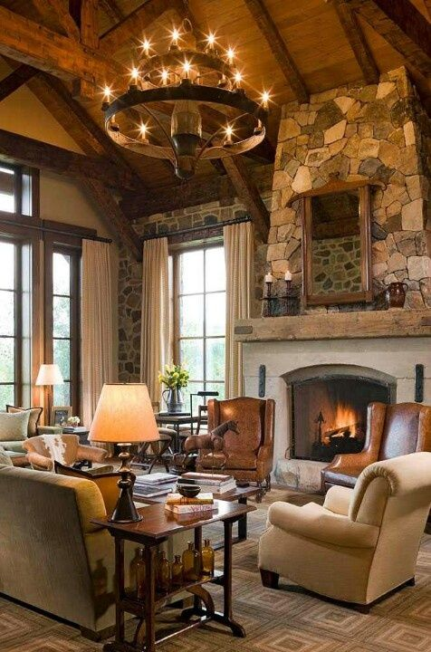 345 best images about hill country style homes on for Texas themed living room
